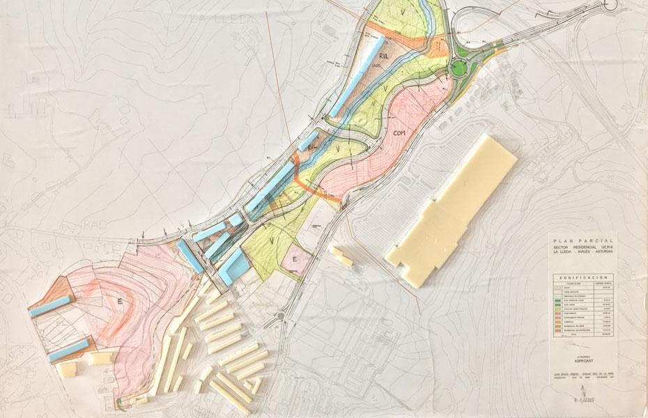 Plan parcial de la lleda avil s roces arquitectos - Arquitectos aviles ...
